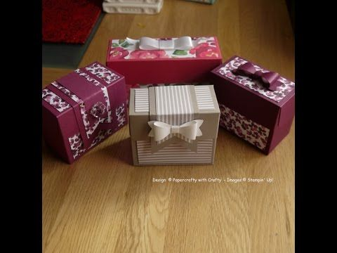 Boxes made with the Gift Bag Punch Board - YouTube