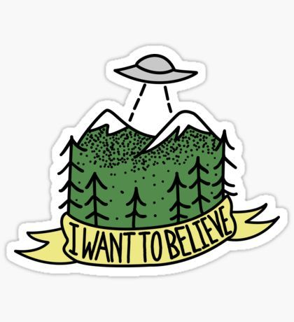 i want to believe Pegatina