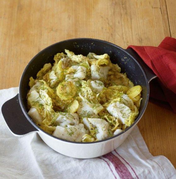 Kartoffeln, Wirsing und Fisch in Senfrahm schmoren leise vor sich hin. Und Sie ernten den großen Applaus!