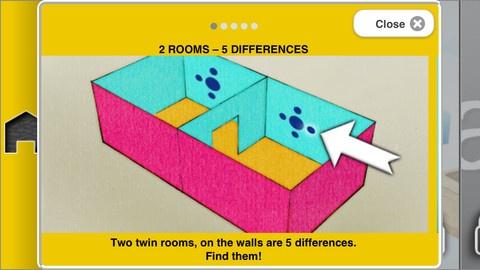 TwinRooms è disponibile gratuitamente su App Store. Mettete a prova le vostre capacità visive e di memoria con Twin Rooms! Lo scopo del gioco è trovare le cinque differenze esistenti tra le due stanze gemelle. TwinRooms è disponibile gratuitamente su App Store.