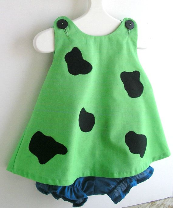 Green Pebbles Flintstone Toddler Costume 2 Piece Set by peapodray on Etsy. Molly's Halloween costume for 2012