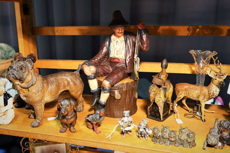 Antique figures & animals at Sandown Antiques & Collectors Fair