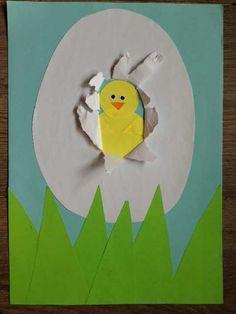 Materialen om te knutselen: Papier: wit, blauw, geel en groen Lijm Schaar Evt. beetje zwart en oranje papier voor de snavel en ogen en anders stiften Lekker knutselen: Teken op ge...