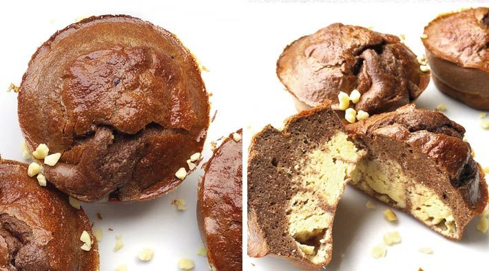 Low Carb Rezept für Low-Carb Schoko-Protein Quark-Muffins. Wenig Kohlenhydrate und einfach zum Nachkochen. Super für Diät/zum Abnehmen.