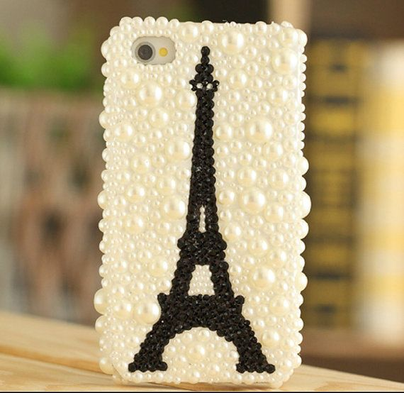 FREE Phone case DIY Deco set kits decoden bling handmade decoration cute package gift accessories luxury iPhone rhinestone eiffel tower on Etsy, £3.18