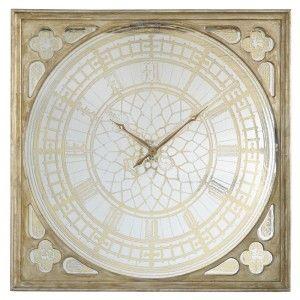 Antiqued Mirror Wall Clock