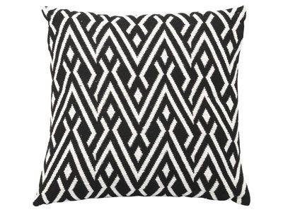 Coussin 40X40 cm - AZTEQUE coloris noir et blanc - code article :   517674