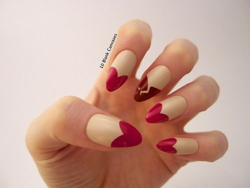 10blankcanvases: Today I am wearing Heart Breaker nails Enter