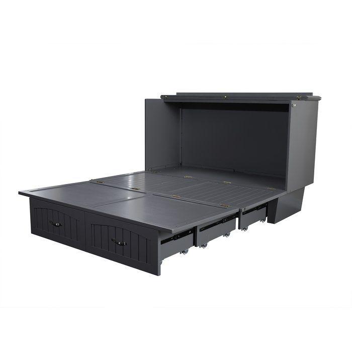 Graham Queen Storage Murphy Bed With, Queen Murphy Storage Platform Bed With Mattress
