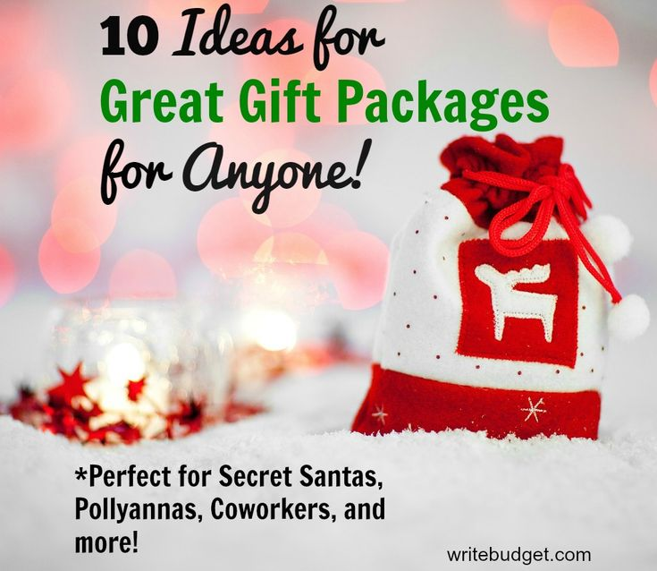 If you need something to give for a secret santa, pollyanna, gift exchange, or just something impersonal, these 10 ideas for gift packages are great for anyone!