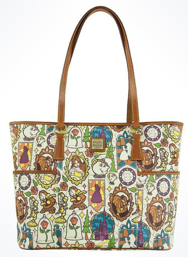New Disney Beauty And The Beast Dooney Bourke Limited Edition Shopper Tote Dooney And Bourke Disney Dooney Bourke Handbags Dooney Bourke