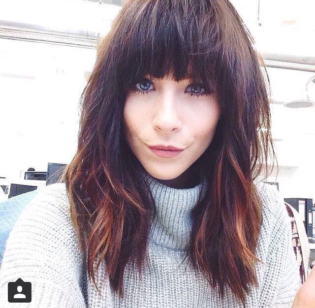Meg from ASOS got the balyage enhancer from Amy to a winter warm glow. Cut by Stephen full fringe with long layers.