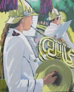 'French Horn Player' by Terry Wood