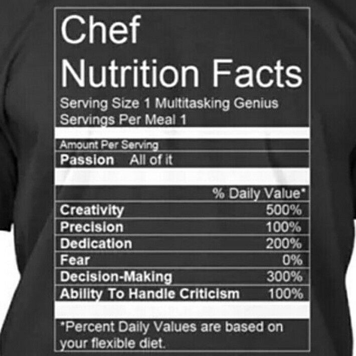 25 facts about dating a chef