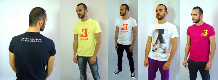 Meunique Man T-shirts on their way to www.meunique.gr