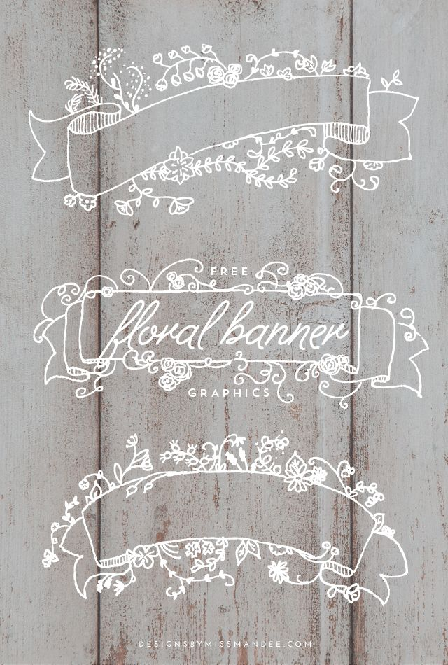 designs by miss mandee: floral banners