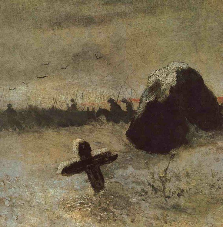 Mikoláš Aleš - U hrobu božího bojovníka #czech #painter