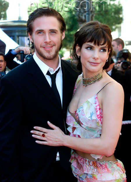 """Ryan Gosling & Sandra Bullock at the """"Murder By Numbers"""" movie premiere at the Cannes Film Festival 2002"""