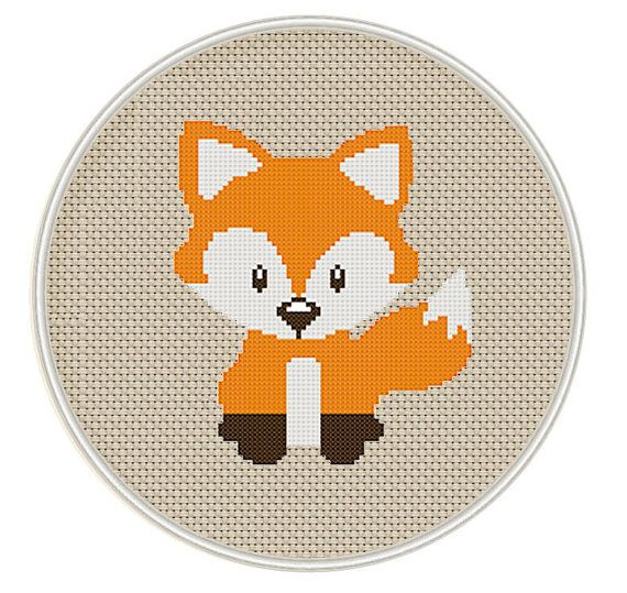 Little Fox stitch pattern Instant Download cute by DazzlingDoilies
