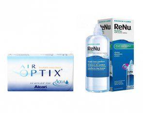 Air Optix Aqua 6 Stk. + Renu Multiplus 360 ml.