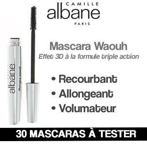 Testez le nouveau Mascara Waouh de #CAMILLEALBANE! #maquillage #gratuit #cadeaux