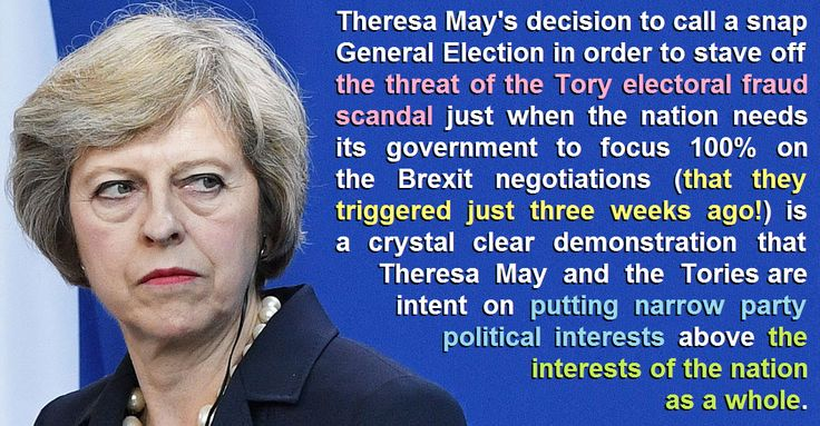 Theresa May and the Tories are putting party political interests above the interests of the nation as a whole