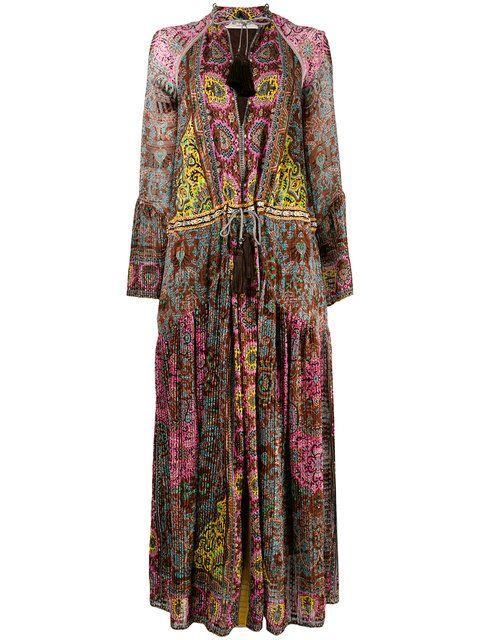 """Купить Etro длинное платье с принтом """"пейсли""""."""