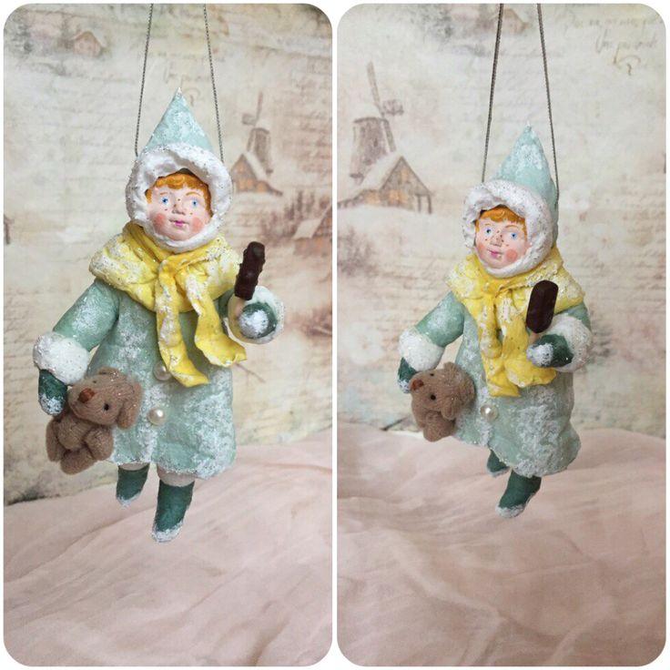 """Ватная игрушка """"Ларочка"""" Annette Decor"""