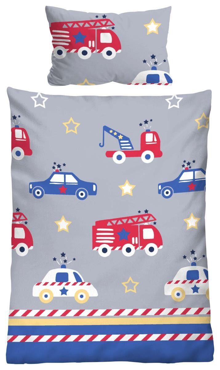 Baumwoll Kinderbettwasche Blau Mit Autos 135 X 100 Cm