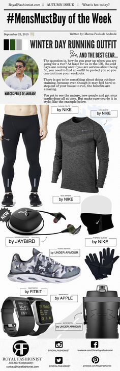 Men's Winter Day Running Outfit and The Best Wireless Earphone | Royal Fashionist