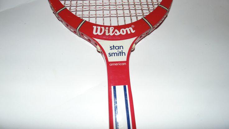Vintage Stan Smith American Model Wilson Wooden Tennis Racket 1970s Racquet Antique Tennis Racket Sports Decor 70s by AltmodischVintage on Etsy