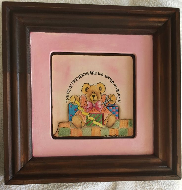 The Best presents are Wrapped in Heaven, Bear Frame by MariaCelestialArts on Etsy