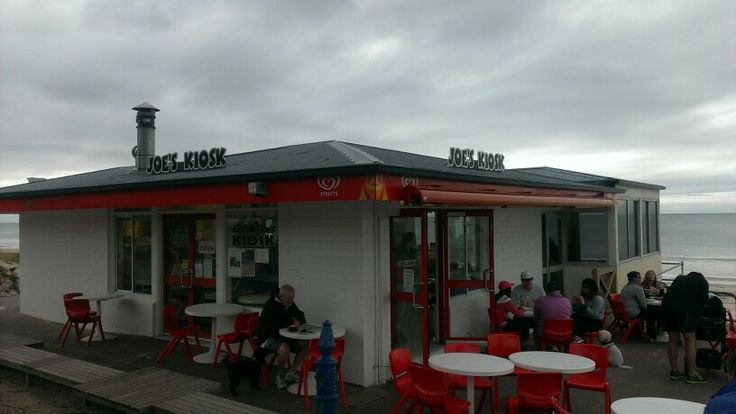 #7 JOES KIOSK, Eplanade, Henley Beach (200 metres south of Jetty) very popular local cafe  - open only for breakfast/ brunch. Our visit we found the coffee average to below - the soy latte was probably the worst we've tried (had to tell them to fill the glass up with milk not froth).. also..  The most expensive large takeaway  Ive seen $7!  ++ 31/May/2014