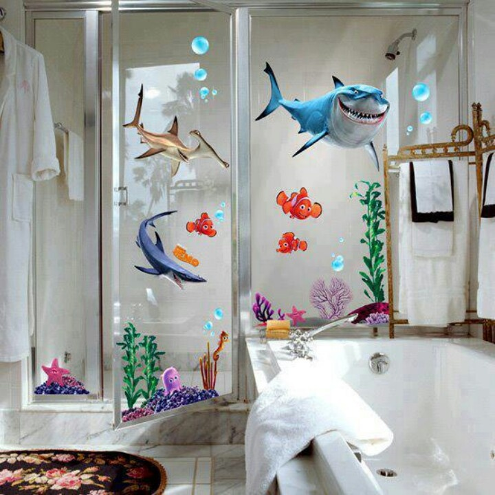 i see the future of the kids bathroom new disney finding nemo wall sticker decor removable vinyl nursery kids room - Bathroom Designs For Kids