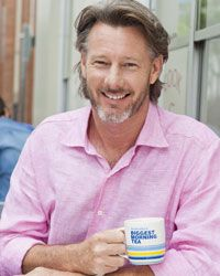 """Barry Du Bois  - Cancer Council Ambassador. """"When I got cancer I said to myself, here's an opportunity to help. I'm involved with Biggest Morning Tea because I know that cancer can stop you in a hurry."""""""