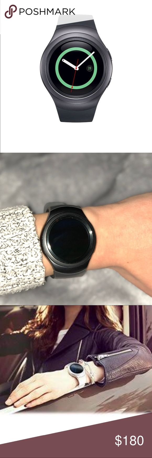 Gear S2 watch Dark Grey No scratches on glass, like new. Works great! Compatible with iPhone. samsung Other
