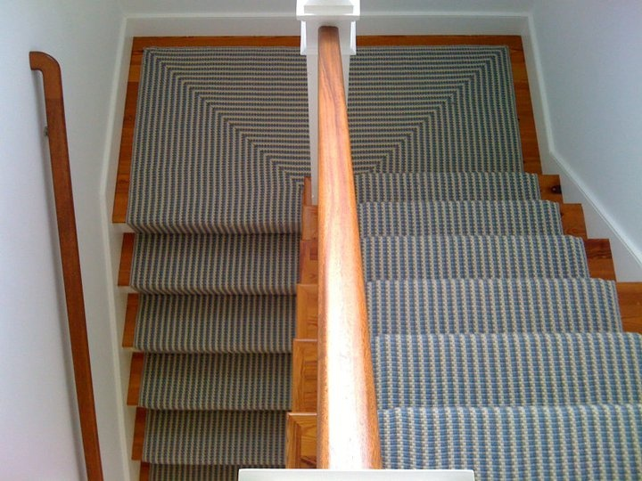63 best images about stair runner installations on for Woven carpet for stairs