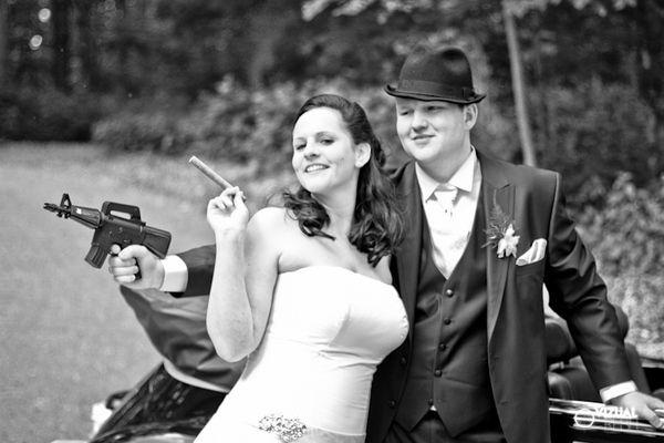 Bonnie & Clyde Wedding by Vizual Rebel, via Behance
