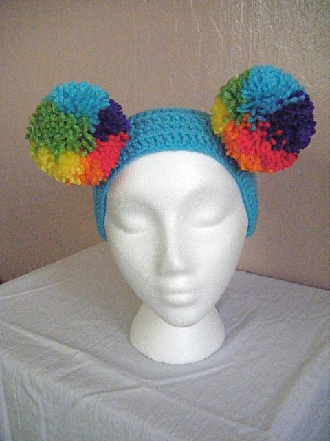 Rainbow puffball headband available for sale in my Etsy shop: https://www.etsy.com/listing/101672515/rainbow-puff-ball-headband?ref=shop_home_active_49