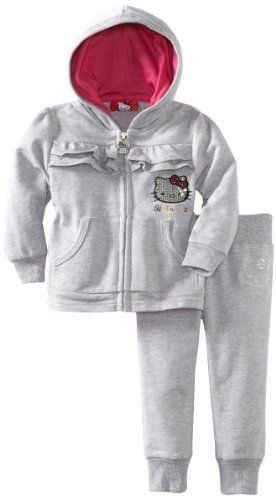 Hello Kitty Baby-girls Infant Ruching On Sweatsuit Set for only $15.72
