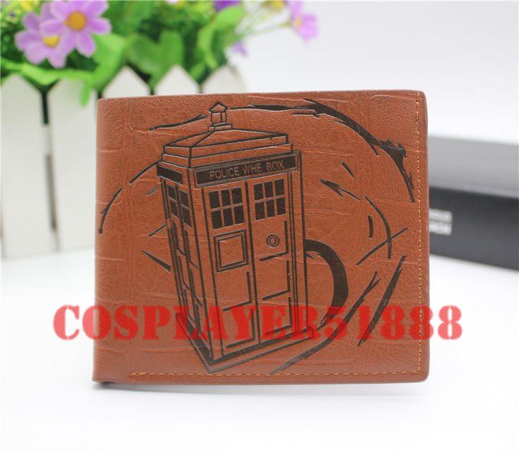 Doctor Who wallet cosplay men women bifold brown purse