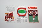 1987 Kansas City Chiefs NFL Football Pocket Schedule Unfolded - 1987, Chiefs, City, FOOTBALL, Kansas, Pocket, SCHEDULE, Unfolded