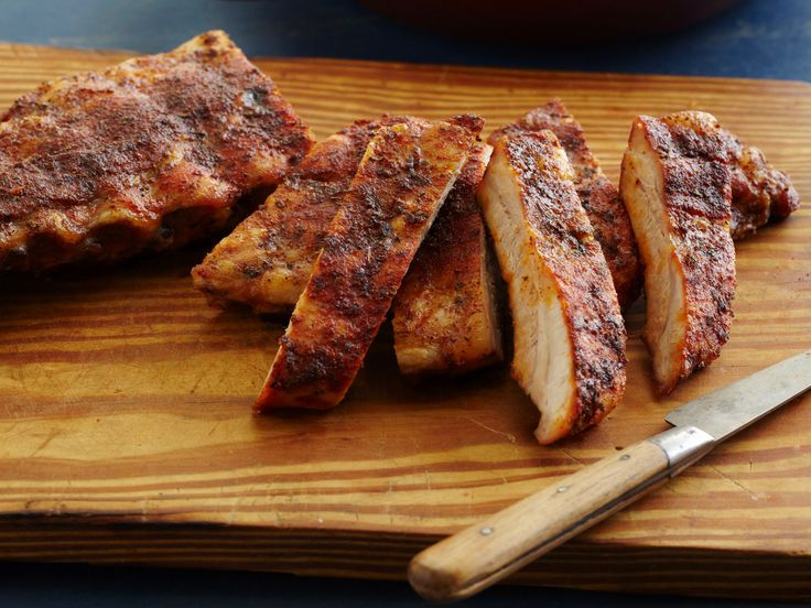 Dry Rub Ribs- Memphis (Dave's Dinners) recipe from Dave Lieberman via Food Network