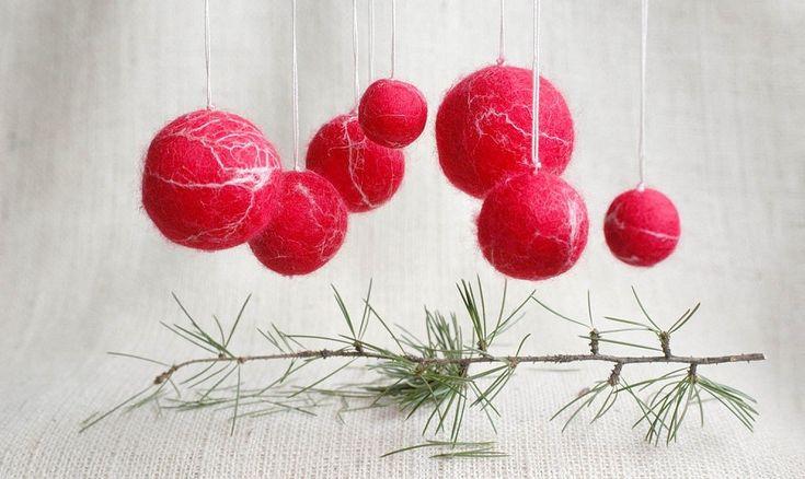 Bolas de navidad para decorar navidad pinterest feng - Decorar bolas de navidad ...