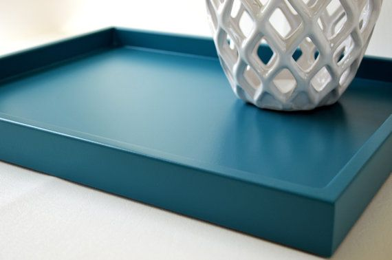 8 best images about ottoman tray on pinterest wood tray for Shallow coffee table