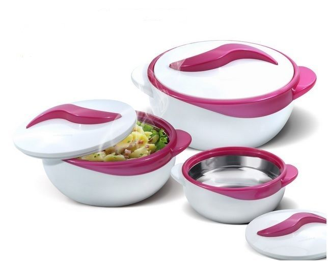 3 Pc Casserole Serving Bowls Thermo Dish. Casserole Serving Bowls with Inner stainless steel construction and polyurethane insulation. Lightweight and really nice looking. No more lukewarm food! When preparing a meal for many individuals, everyone can enjoy the samehot or cold food at different times. | eBay!