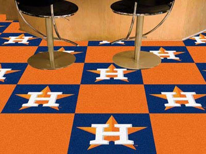 Houston Astros 18in x 18in Carpet Tiles (Box of 20)