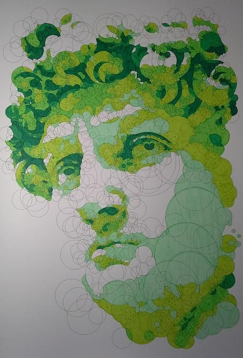 "Querkles Masterpieces: A Puzzling Colour by Numbers Book: by Thomas Pavitte - Michelangelo Buonarroti ""David"""