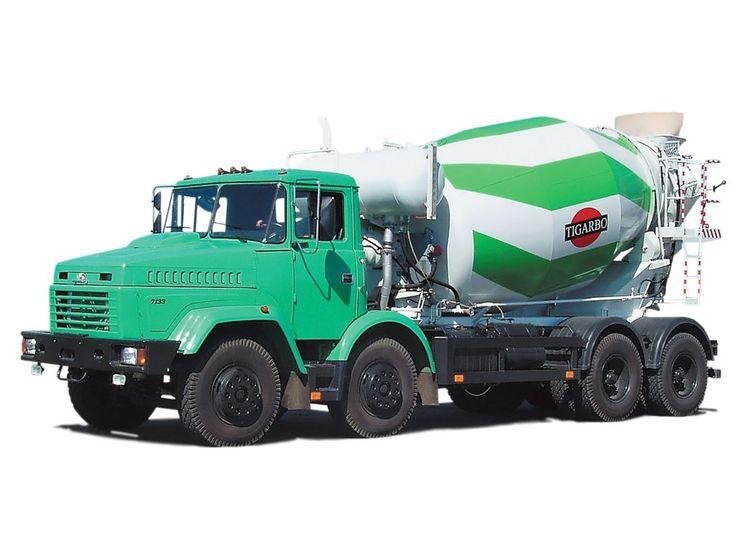KRAZ  concrete mixer