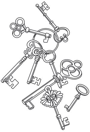 Key Cascade design (UTH7566) from UrbanThreads.com What is it about keys?? I think it's the adventure of what they unlock...like the door to a time machine...